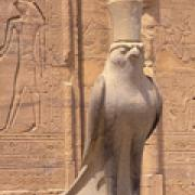 Statue of Horus  at Edfu Temple