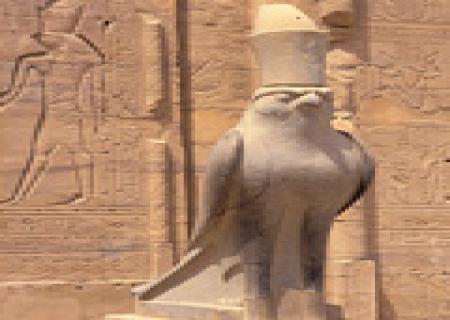 Statue of Horus  at Edfu Temple